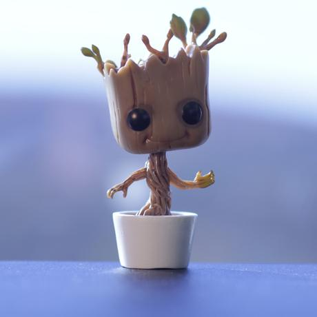 Colin's alter ego is Baby Groot