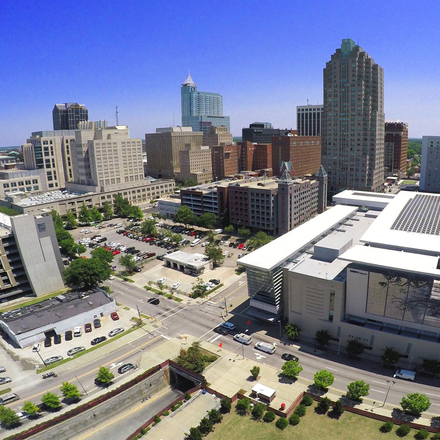 Example photo of downtown Raleigh