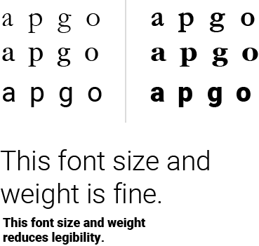 typography graphic demonstrating the concept of negative space