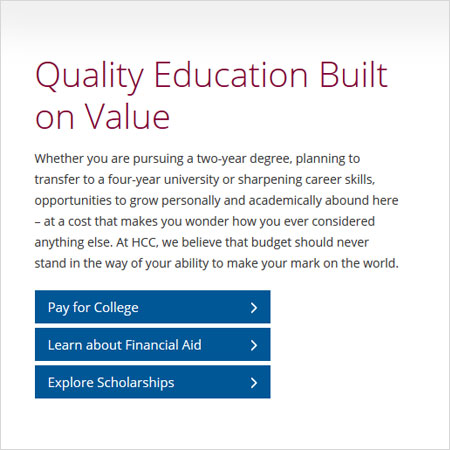 Example callout - Quality education built on value