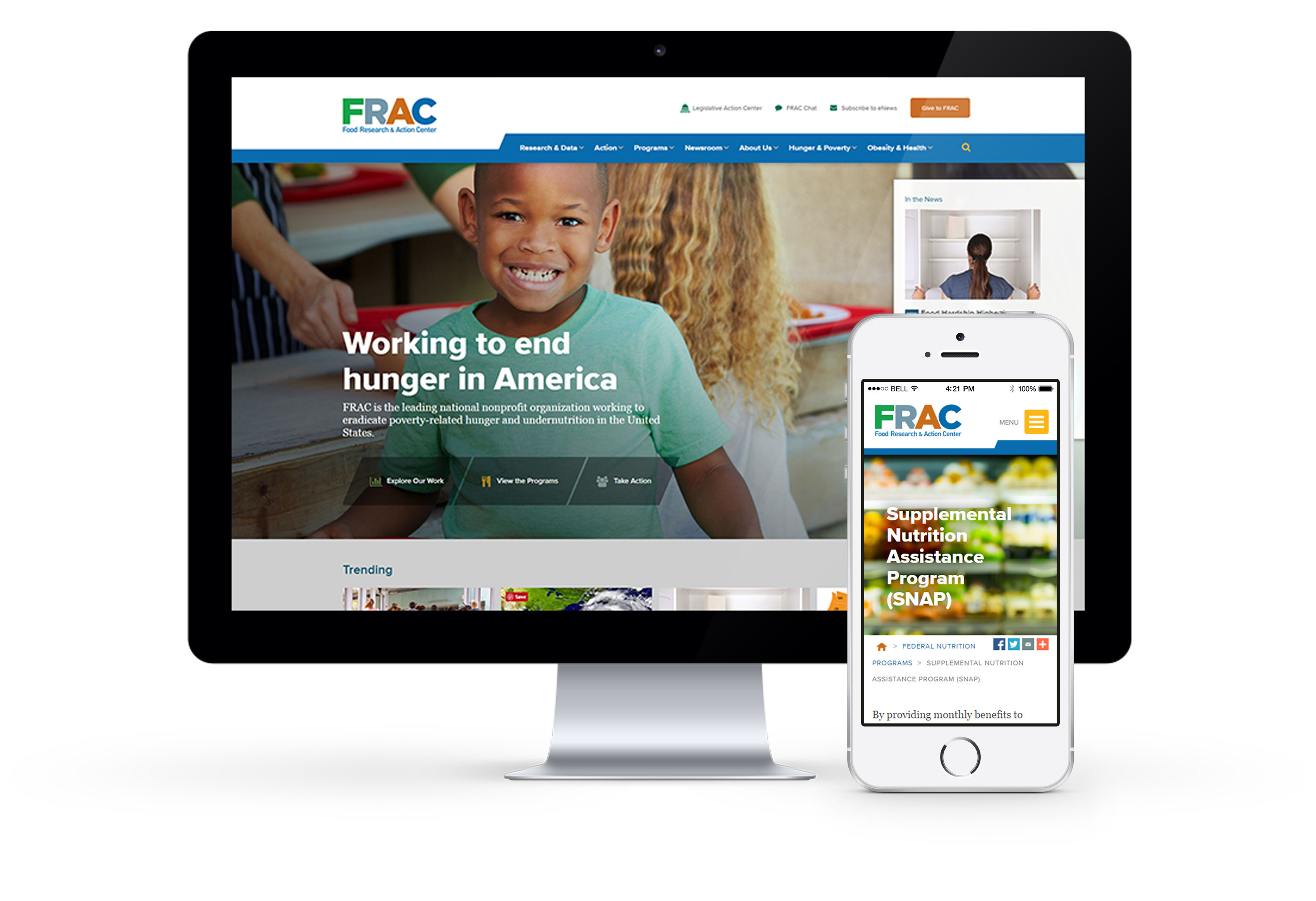 FRAC website on desktop and mobile