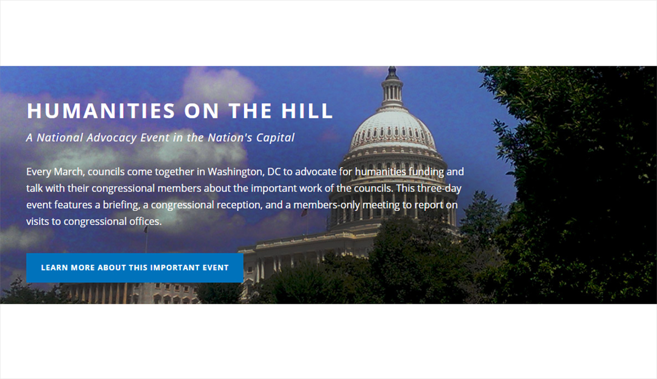 Example event callout - Humanities on the Hill
