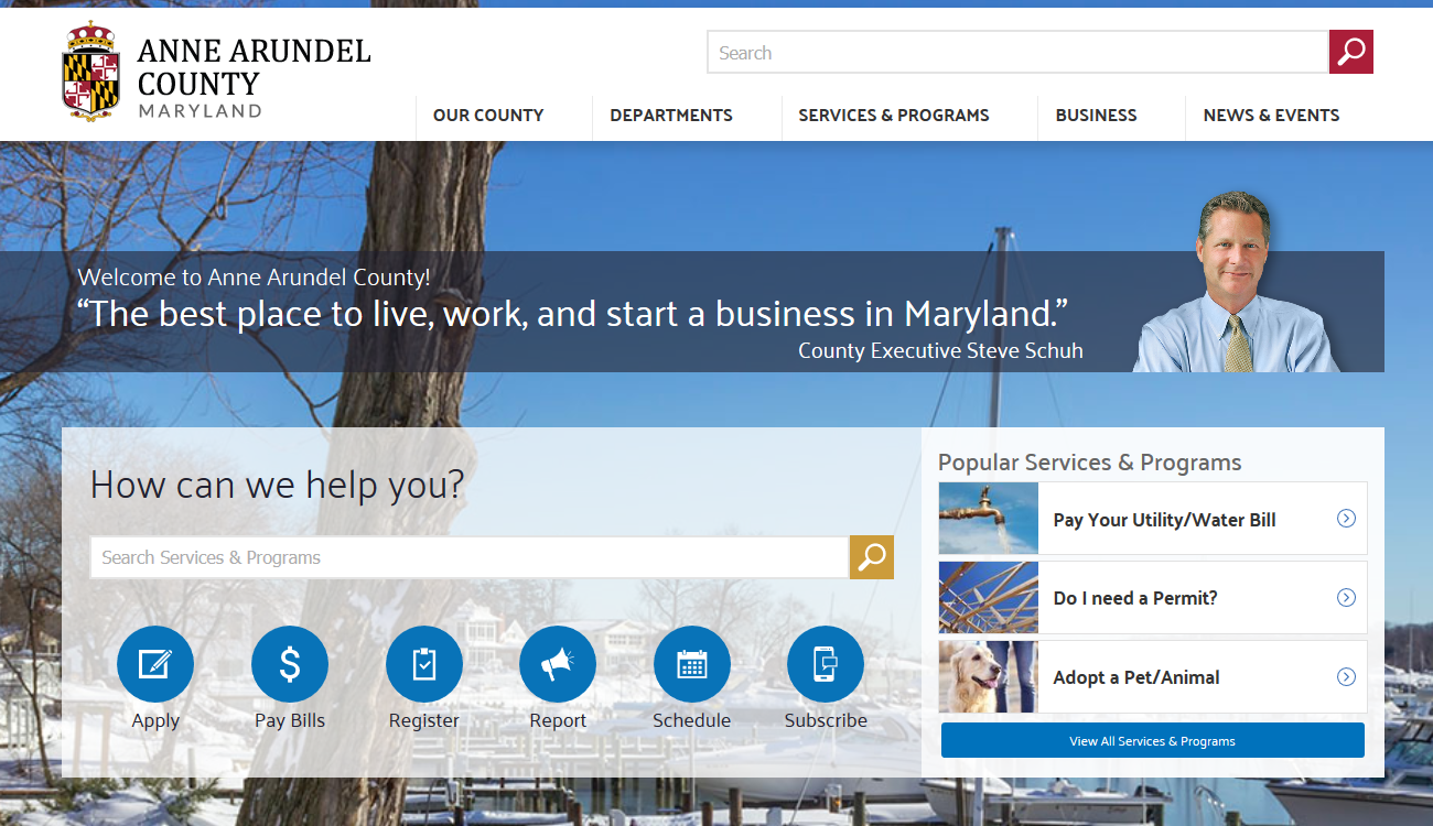 Anne Arundel County Homepage